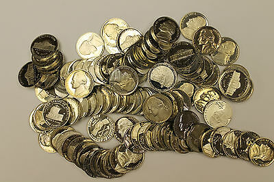 Proof Nickels - 100 Mixed Dates - Not Perfect - Proof Rolls