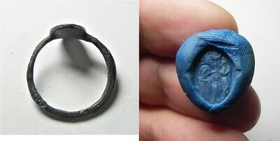 Zurqieh -Aa2955- Beautiful Venetian Bronze Ring. 1500 A.d