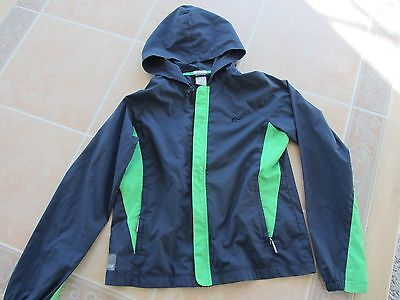 Old Navy Full Zip Long Sleeve Hooded Rain Jacket Blue Youth M FREE SHIPPING!