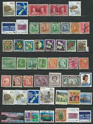 #7545 NEW ZEALAND Lot of Used Stamps