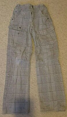 Boys age 7-8 check trousers from Vertbaudet