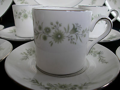 WEDGWOOD WESTBURY (c.1965-1996) DEMI CUP AND SAUCER(s)- EXCELLENT!! PLATINUM!!