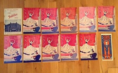 12 PALACE THEATRE HALIFAX programmes from 1950s