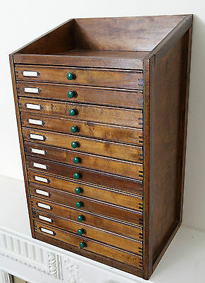 Industrial Small Vintage Specimen Cabinet Chest of 12 Drawers - Collectors Cab