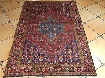 Vintage Hand Knotted Persian High End Bidjar 4.5X6.10 Rug K185