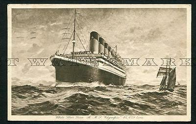 """1924 Used - White Star Line """"olympic"""""""