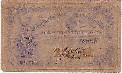 Finland paper money banknote P3c 10 Markkaa, 1897 F+ condition Russian control