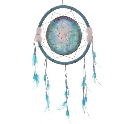 Attrape Reve Dreamcatcher Bleu Turquoise Impression Fees Diametre 33 Cm