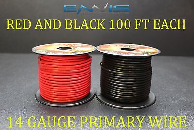 14 Gauge Wire 200 Ft Ennis Electronics 100 Red 100 Black Primary Awg Copper Clad