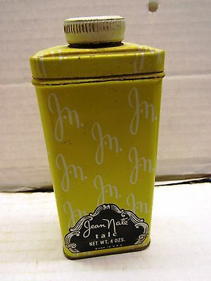 Vintage Jean Nate Talc  Talcum Powder Tin With Contents 29