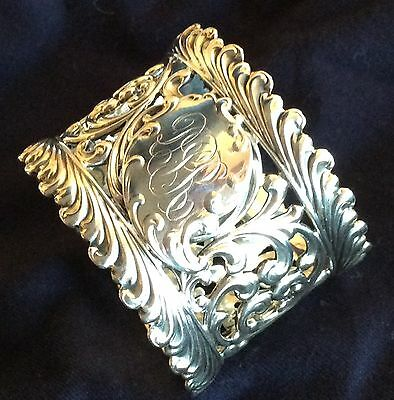 Superb Ornate Sterling Silver Napkin Ring Serviette Holder By Wallace