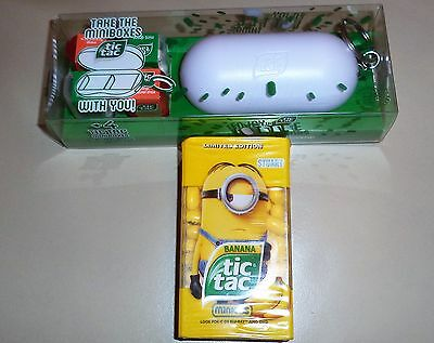 TIC TAC KEYCHAIN with 4 MINIBOXES plus 1 TIC TAC MINIONS 49 g