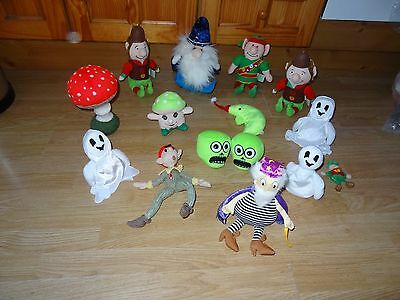 Bundle 15x Plush WIZARDS, ELVES, GHOSTS & TOADSTOOLS Soft Toys 10.5 ins High max