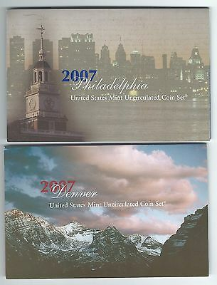 2008 Denver and Philadelphia Mint Uncirculated Coin Sets