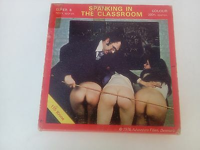 Spanking , Old Super 8 Film , Schoolgirls ,School Cane, Caning Film , Headmaster