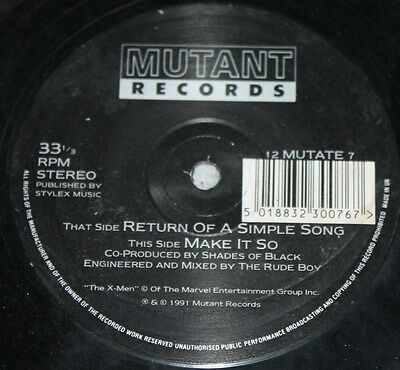 "THE X-MEN * RETURN OF A SIMPLE SONG * Classic Breakbeat House 12"" Vinyl"