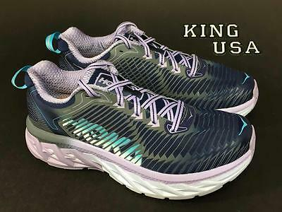 Women's Hoka One One Arahi Running Athletic Shoes Medieval Blue Lavender