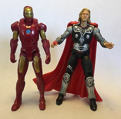 "Marvel Avengers Iron Man & Thor 3.75"" Action Figures Loose Mint Infinity Wars"