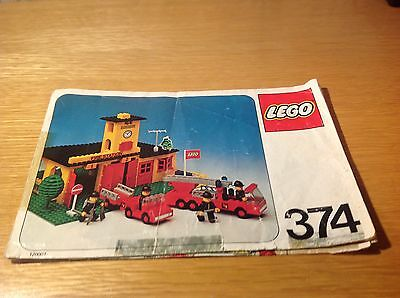 Lego - vintage Town - instructions for Fire Station set no 374