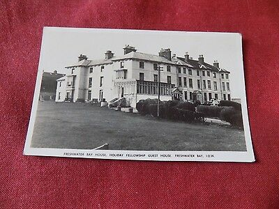VINTAGE ISLE OF WIGHT: FRESHWATER BAY Holiday Fellowship Guest House RP b&w