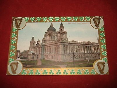 VINTAGE NORTHERN IRELAND: BELFAST New City Hall colour tint Shamrock