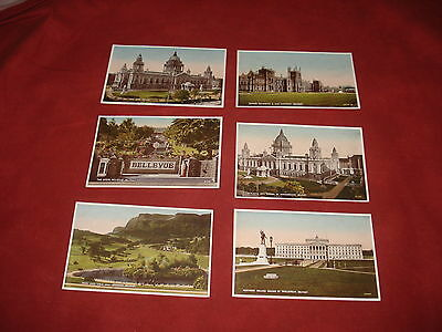 VINTAGE NORTHERN IRELAND: BELFAST X6 colour tint Valentines