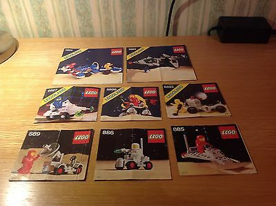 Lego - Space - job lot of 8 sets of assembly instructions