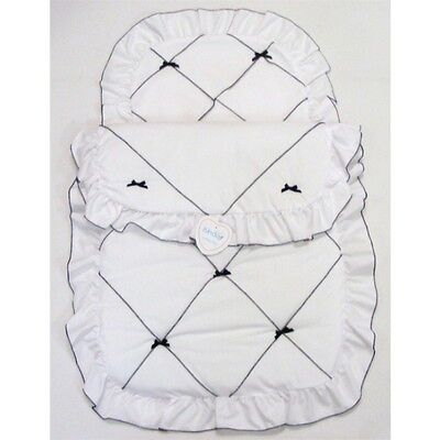 Beautiful Romany Spanish Style Pram Set Quilt & Pillow Case by Kinder