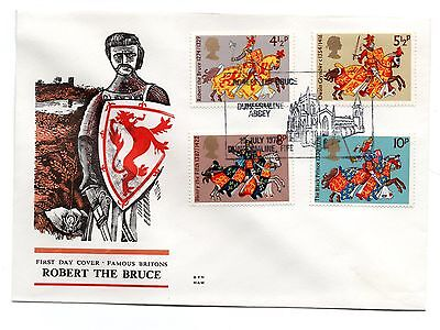 GB 1974 Britons on the Benham Woodfree cover with a Dunfermline cancel