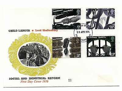 GB 1976 Social Reformers on the Benham Woodfree cover with a Folkestone cancel