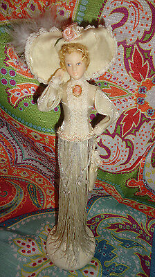 Popular Creations Victorian Tassel Doll Lady IVORY OFF WHITE  11.5 in Box/Stand