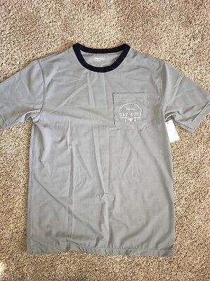 NWT Gap Gray Navy Blue Rash Guard Swim Shirt 12 XL
