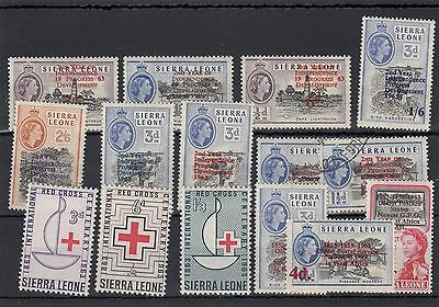Sierra Leone.15 -- Mounted Mint/used 1962/3 Stamps On Stockcard