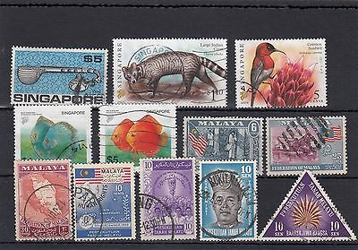 Singapore.12 -- Used Stamps On Stockcard.includes $5
