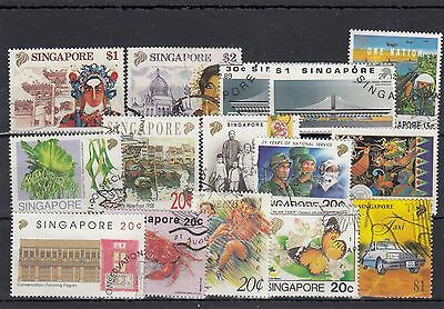 Singapore.15 -- Recent Used Stamps On Stockcard