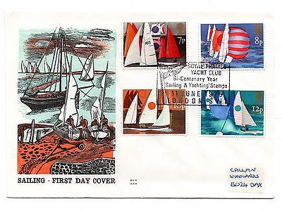 GB 1975 Sailing on the Benham Woodfree cover with a R. Thames Y. Club cancel