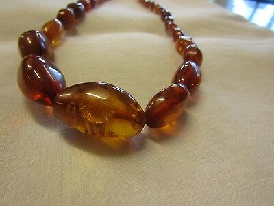Vintage Graduated Amber Beads Re-strung