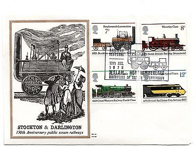 GB 1975 Railways on the Benham Woodfree cover with a Wylam cancel
