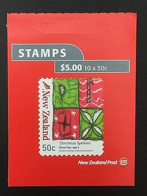 NEW ZEALAND, 2007, Stamp Booklet, Christmas, 10 x 50c, MNH