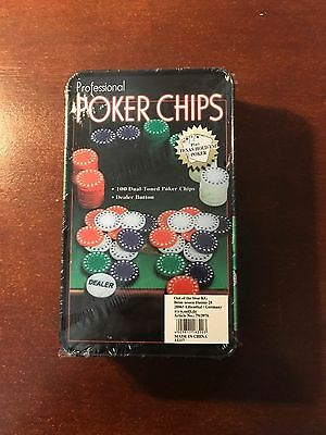 Set Kit Poker 100 Fiches Chips - Nuove Ancora Sigillate