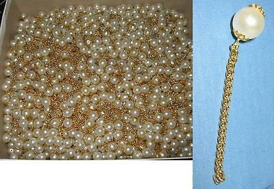 5 WHITE PEARLS With Gold Chain - Charms, necklace, Bracelet, Earring