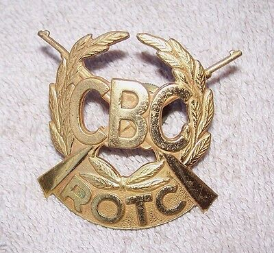 Vintage Cbc Christian Brothers College High School St Louis Obsolete Rotc Badge
