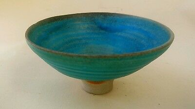 Art Pottery Small Raised Dish Bowl Hand Made Back Stamped