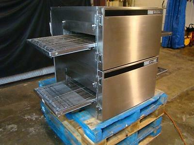 Lincoln Impinger 1132 Double Stack Electric Conveyor Pizza Ovens.....video Demo