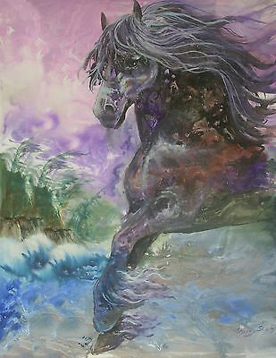 sTORMY   8x10  WIND HORSE Print from Artist Sherry Shipley