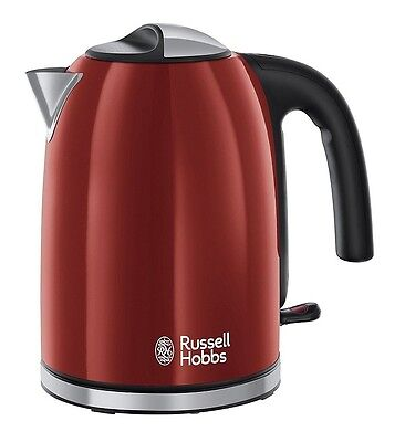 Russell Hobbs 20412 Colours Plus Kettle, 3000 W, 1.7 L - RED