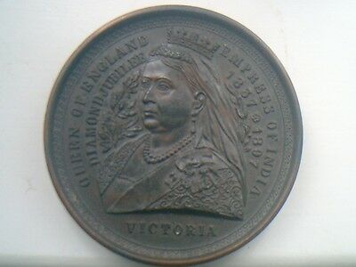 Queen Victoria Medallion 1897 Diamond Jubilee Vintage One Of A Kind Item In Case