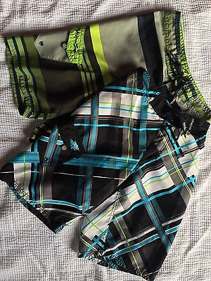 2 PAIRS of Maui & Sons Boys Board Shorts Size 12 (25-26) Beach School Play