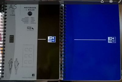 CAHIER OXFORD NOTEBOOK A5 148 x 210 mm 180 pages Réglure 5X5 90 g NEUF