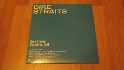 "Dire Straits, Ride Across The River. 12"", Rare Usa Promo Release, Pic Sleeve"